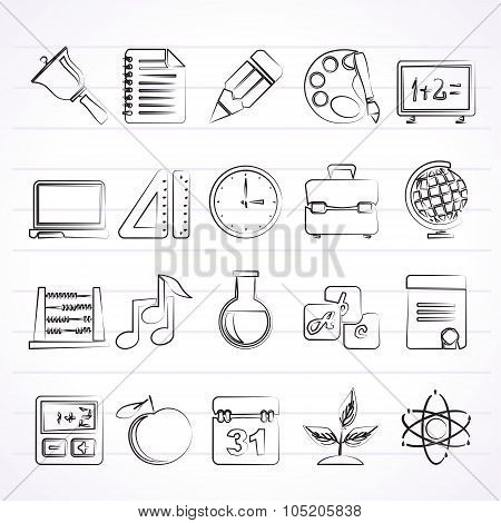 Education, science and studies icons