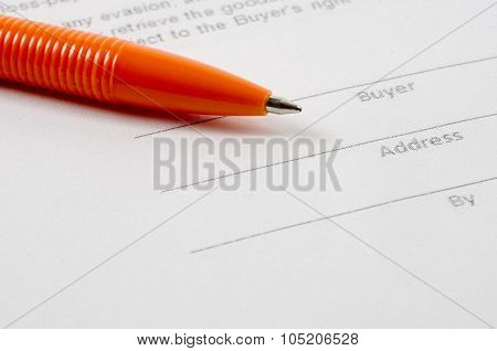 Sales Agreement And Pen
