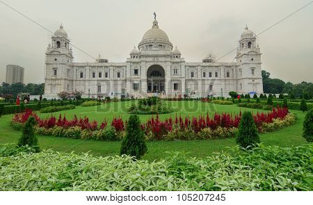 View Of Victoria Memorial In Kolkata