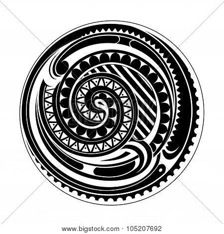Maori circle tattoo
