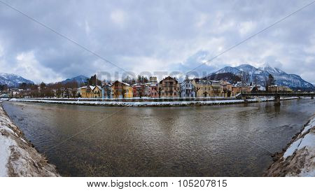 Spa resort Bad Ischl Austria - nature and architecture background