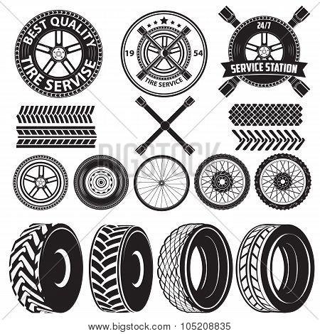 Tire Service Label