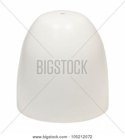 White Salt Shaker On A White Background