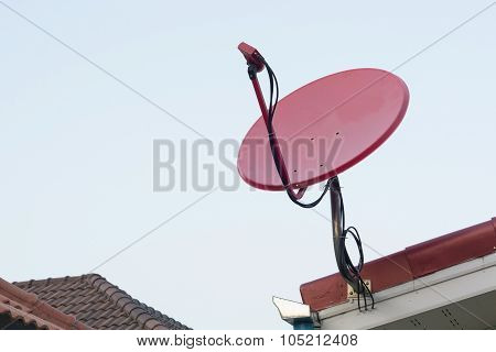 satellite dish on the roof.