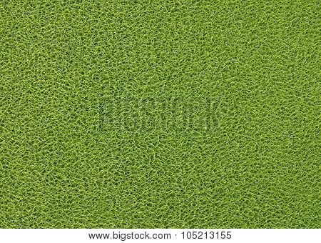 Horizontal Texture Background Of The Green Plastic Doormat