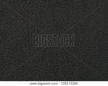 Texture Background Of The Black Plastic Doormat