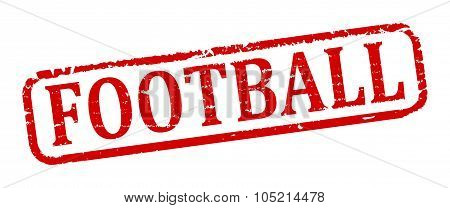 Damaged Oval Stamp With The Words - Football