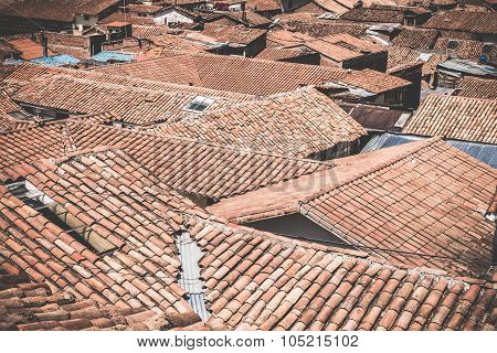 Roofs In The Old Town Of Cusco, Peru