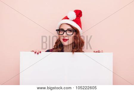 Girl In Hat With Board