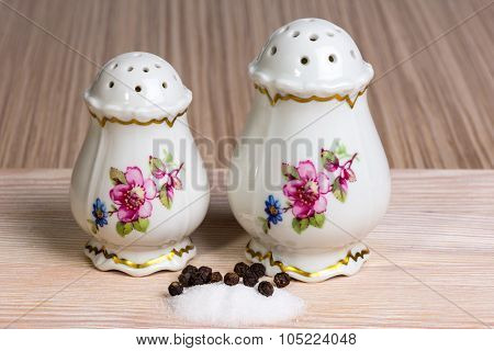Old-fashioned Salt And Pepper Shakers