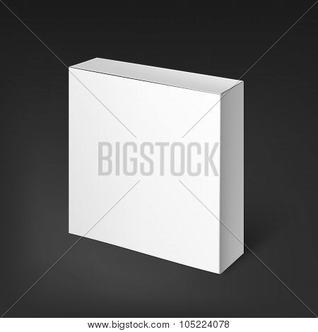 White realistic box. Mockup Template