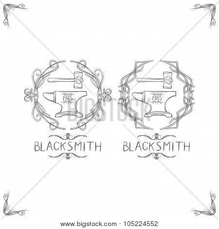 Blacksmith Vintage Logos