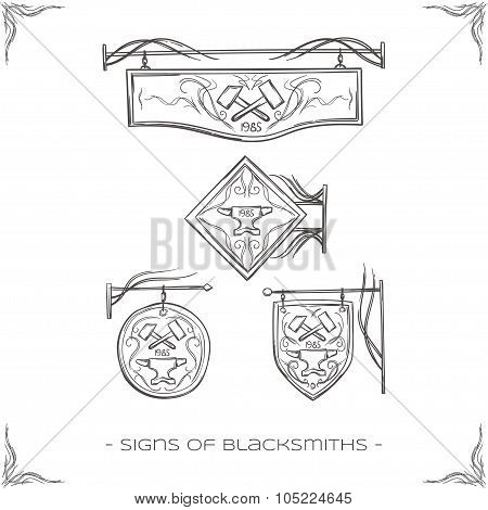 Signs of Blacksmiths