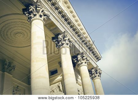 Building with antique columns.