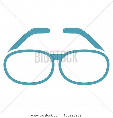 Spectacles Flat Icon
