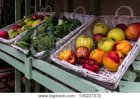 Fruits For Sale Exposed At Market Stall