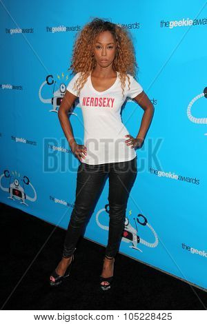 LOS ANGELES - OCT 15:  Trina McGee at the 2015 Geekie Awards at the Club Nokia on October 15, 2015 in Los Angeles, CA
