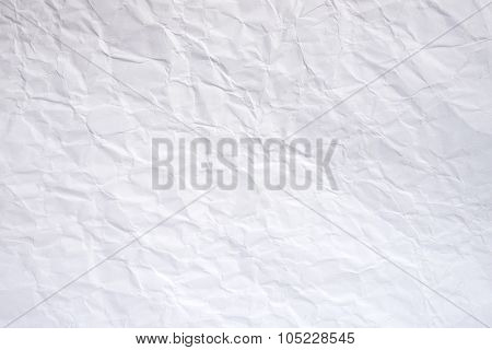 blank page of white crumpled paper