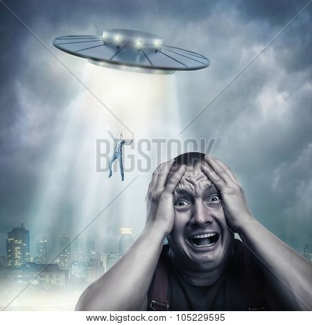 Scared by UFO man screaming at night