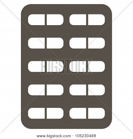 Pill Blister Flat Icon