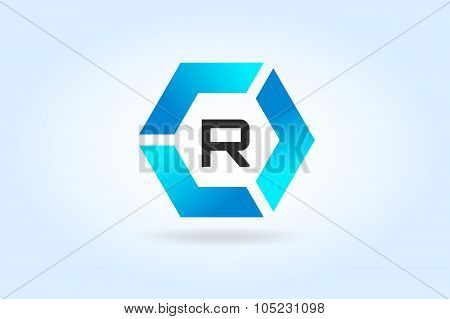 R letter vecto icon template