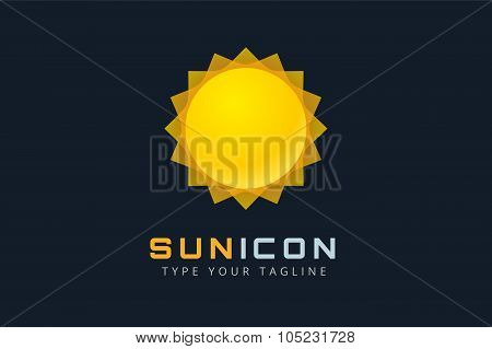 Sun burst star logo icon