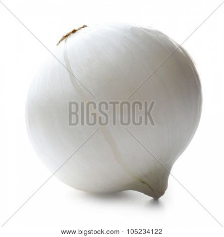 Prepared onion isolated on white