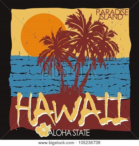 Hawaii tropical beach t-shirt