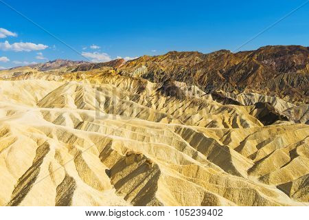 Badlands of the Death Valley National Park seen from Zabriskie Point. California, USA