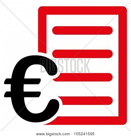 Euro Pricelist Flat Icon