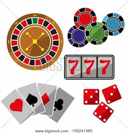Set of icons for casino