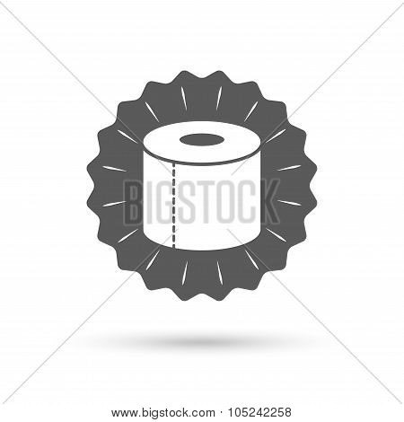 Toilet paper sign icon. WC roll symbol.