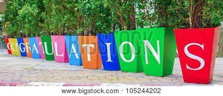 Congratulations Tree Pot