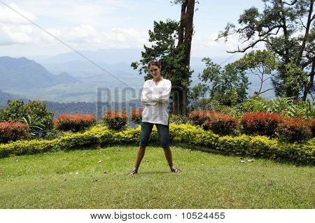 The girl over Kalimantan.