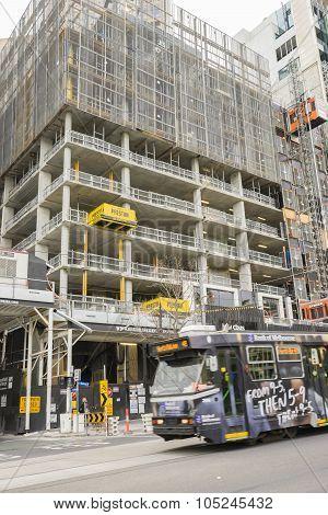 Modern Building Under Contruction In Melbourne