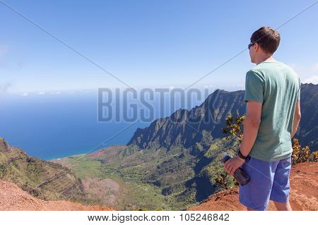 Man Hiking At Kauai