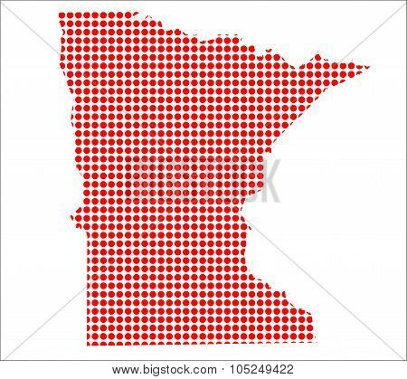 Red Dot Map Of Minnesota