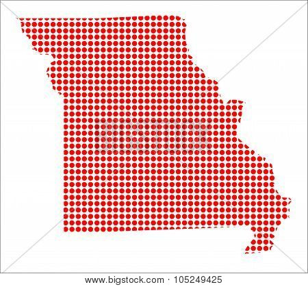 Red Dot Map Of Missouri