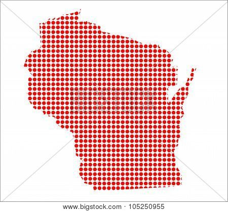 Red Dot Map Of Wisconsin