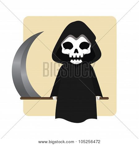 Death Halloween monster mascot
