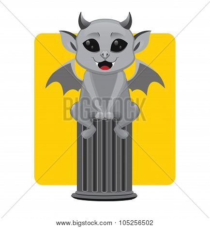 Gargoyle Halloween monster mascot