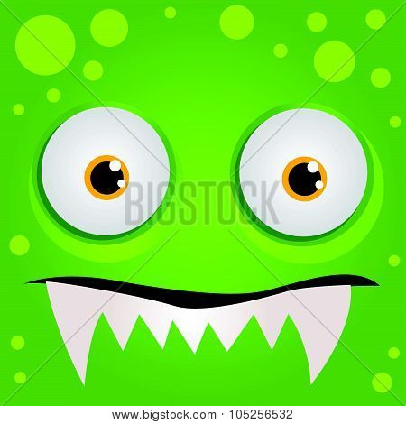 Cartoon expression monster