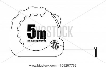 Measure roulette icon. Contour