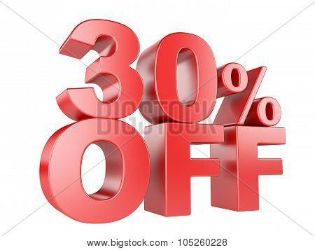 30 Percent Off 3D Icon.