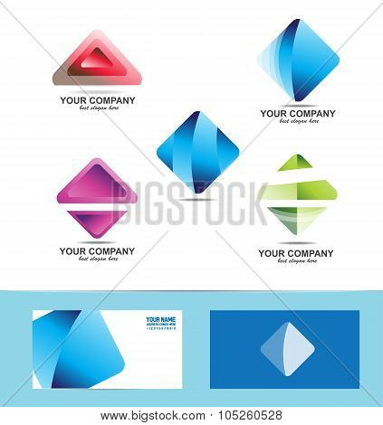 Rhombus Logo Icon Set