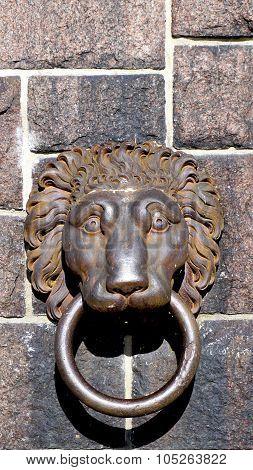 Lion Door Handle At Cityhall In Stockholm
