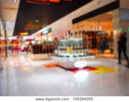 Abstract Blur Image Of Shops With Fashionable Clothing