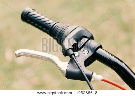 Mountain bicycle handle.