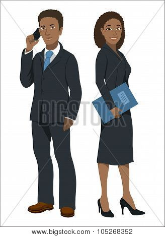 Black afroamerican business people