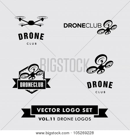 Drone Vector Logo Set